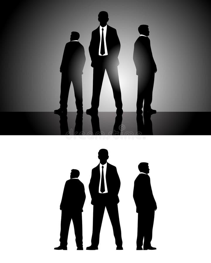 3 силуэта бизнесменов бесплатная иллюстрация