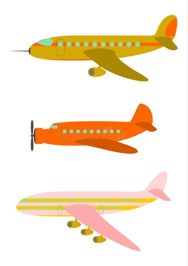 Ретро воздушные судн пассажира. иллюстрация вектора