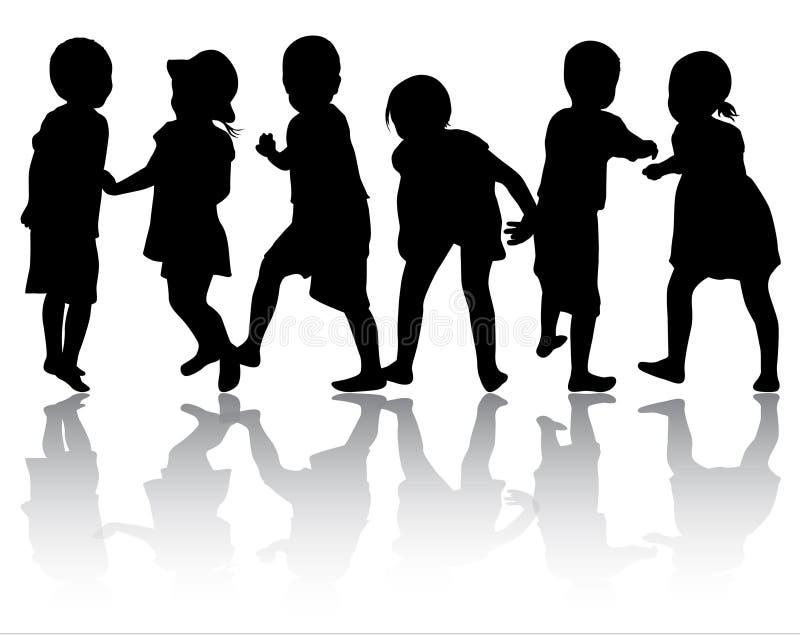 Силуэты детей бесплатная иллюстрация