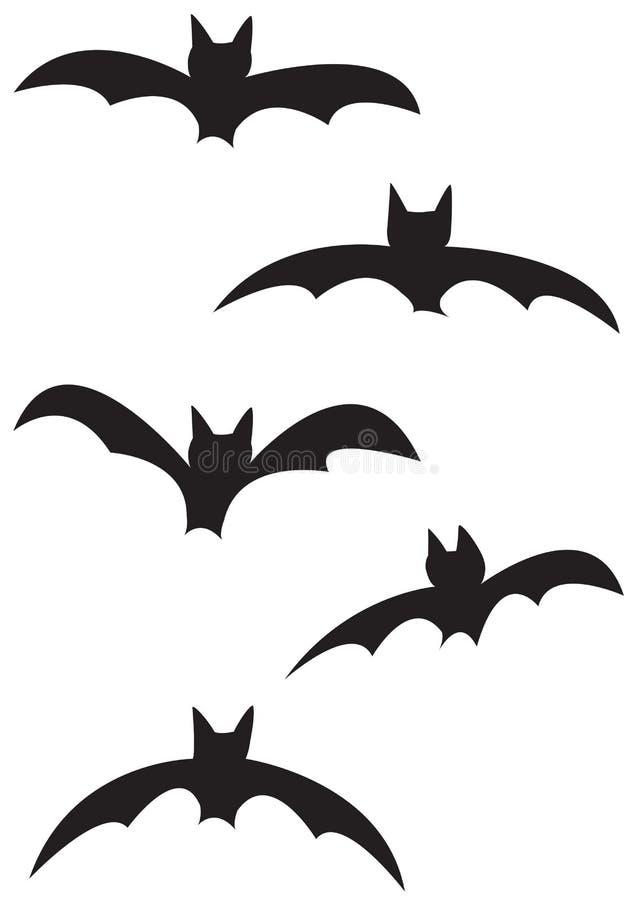 Силуэты летучей мыши иллюстрация штока
