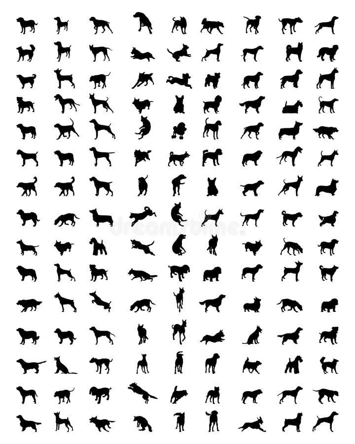 Силуэты собак бесплатная иллюстрация
