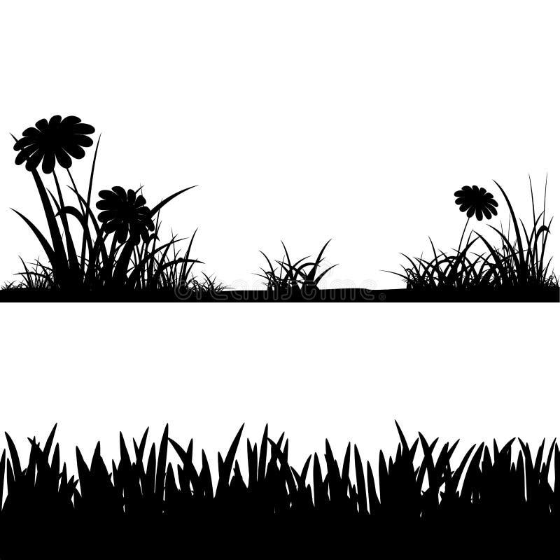 Силуэты травы шток померанца иллюстрации предпосылки яркий бесплатная иллюстрация