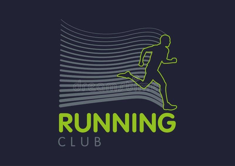 Силуэты шаблонов логотипа просвечивающие бежать людей стоковые изображения rf