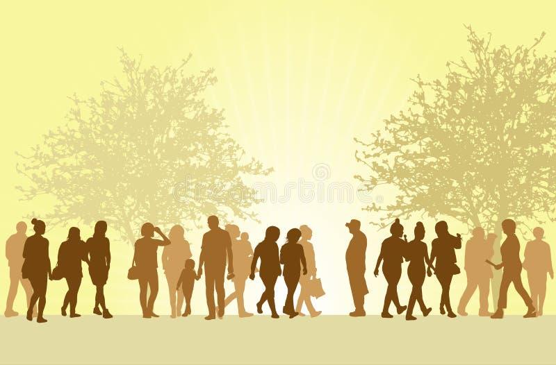 Силуэты людей outdoors бесплатная иллюстрация