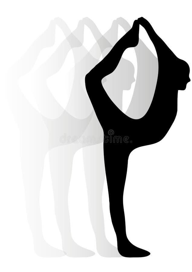 Силуэт дамы балета иллюстрация штока