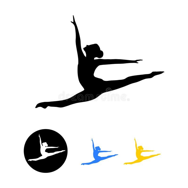 Силуэт артиста балета иллюстрация вектора