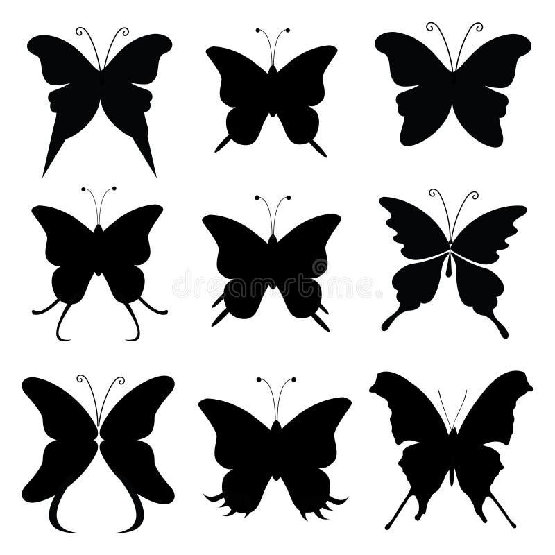 Силуэт бабочки иллюстрация вектора