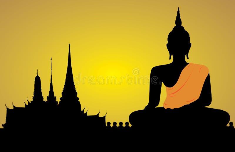 Силуэт Будды бесплатная иллюстрация