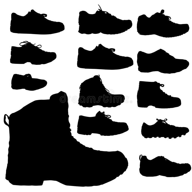 Силуэт вектора ботинка бесплатная иллюстрация