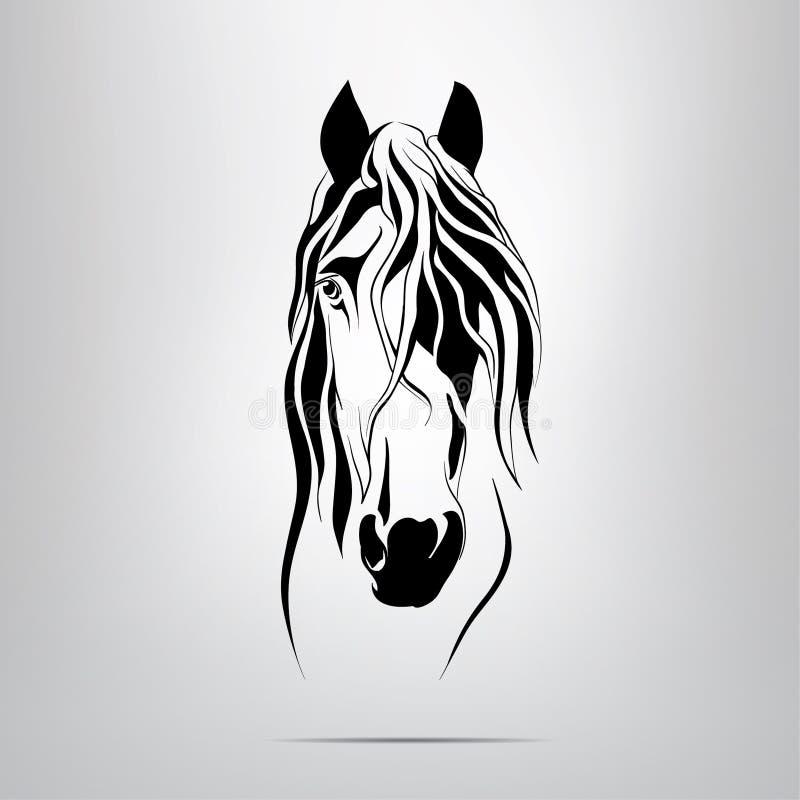 Силуэт вектора головы лошади иллюстрация вектора