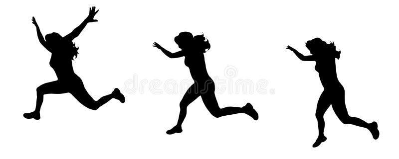 Силуэт вектора женщины иллюстрация вектора