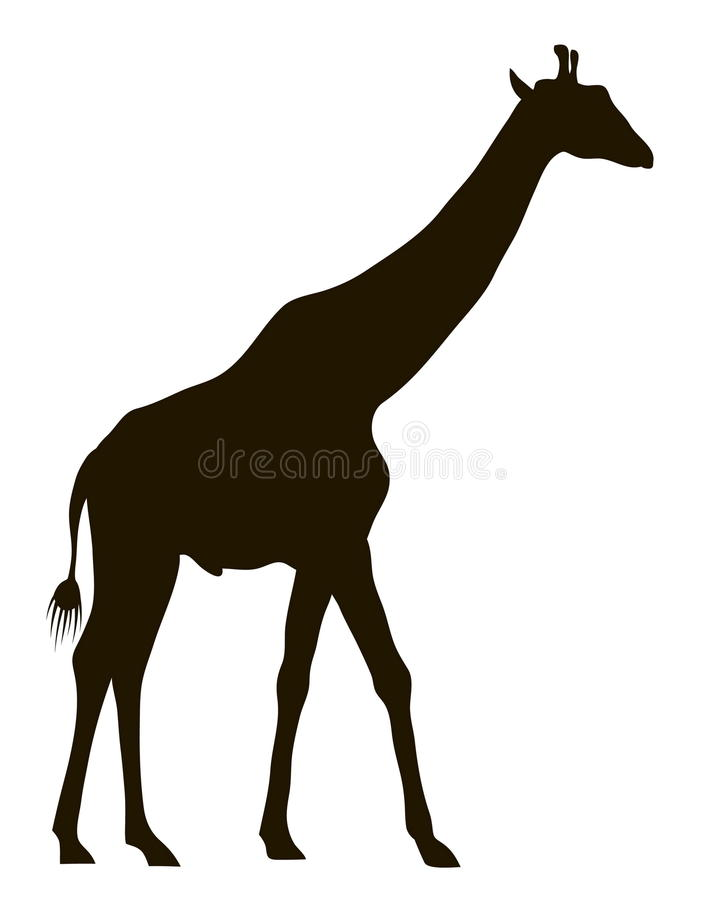 Силуэт вектора жирафа иллюстрация штока
