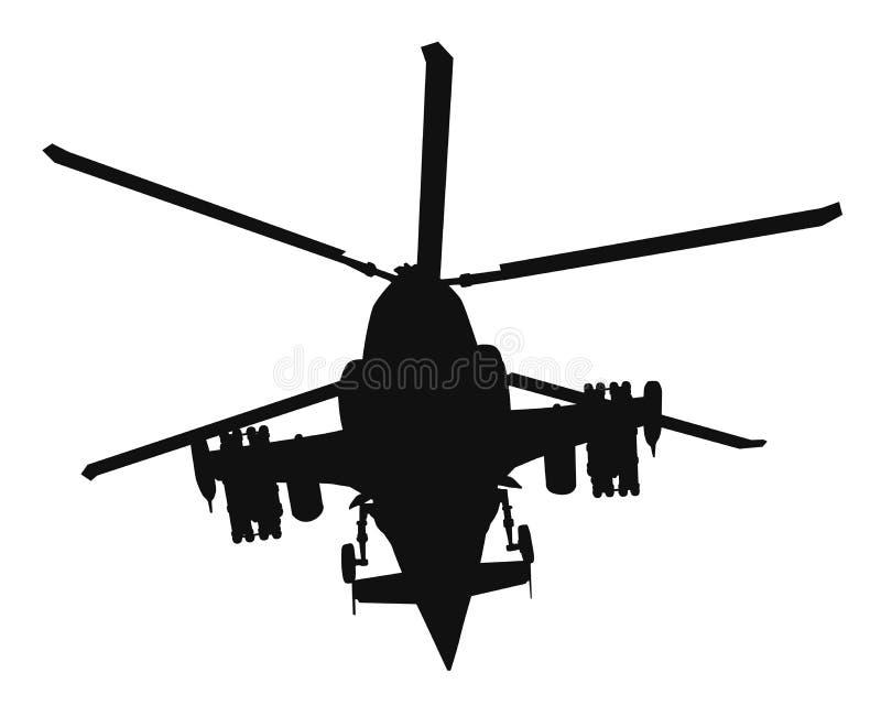 Силуэт вертолета иллюстрация вектора