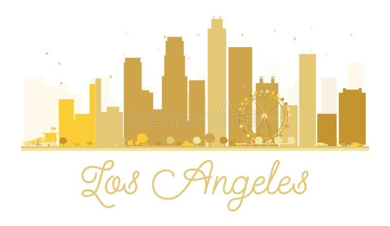 Силуэт горизонта города Лос-Анджелеса золотой бесплатная иллюстрация