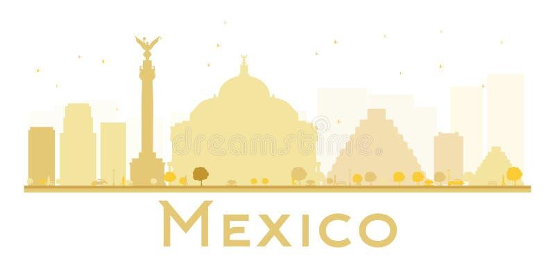 Силуэт горизонта Мехико золотой бесплатная иллюстрация