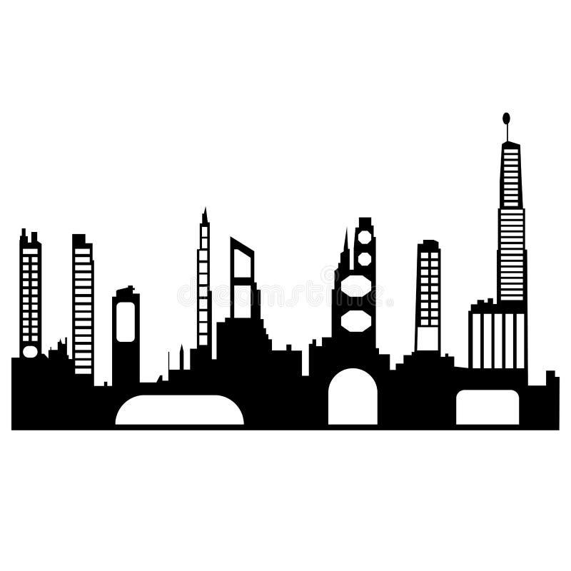 Силуэт города стоковое фото