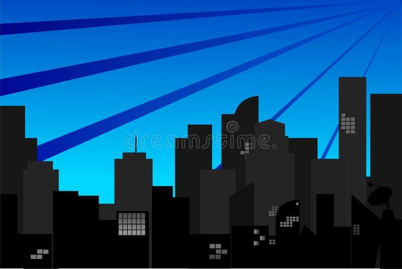 Download Силуэт городка иллюстрация штока. иллюстрации насчитывающей дело - 33737907