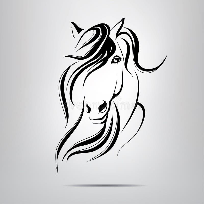 Силуэт головы лошади иллюстрация штока