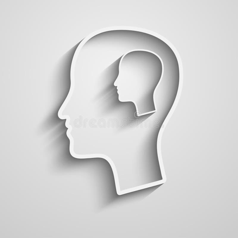 Силуэт головы человека иллюстрация вектора