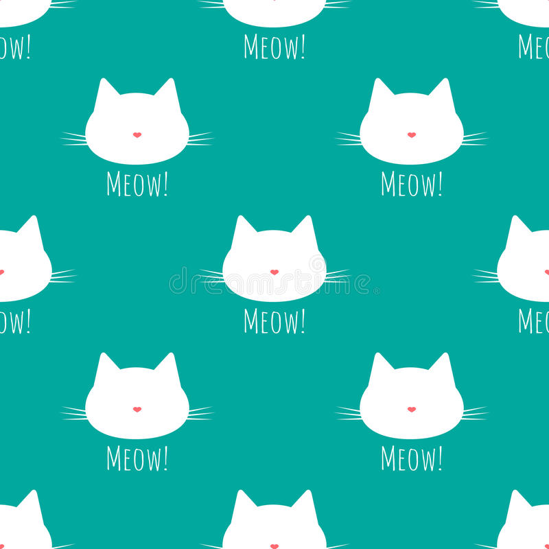 Силуэт головы ` s кота с усиком Нос в форме сердца бесплатная иллюстрация