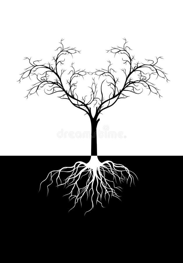 Силуэт дерева для вас дизайн иллюстрация штока