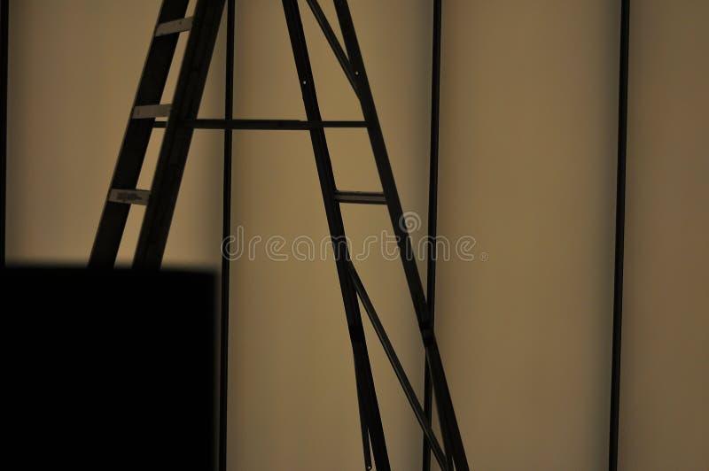 Силуэт лестницы стоковые изображения rf