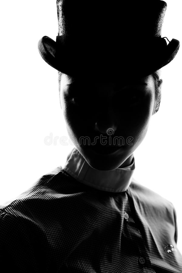 Силуэт женщины подготовленный для Dressage стоковое фото rf