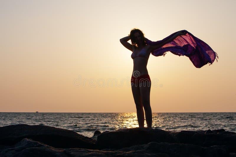 Силуэт женщины стоковые фото