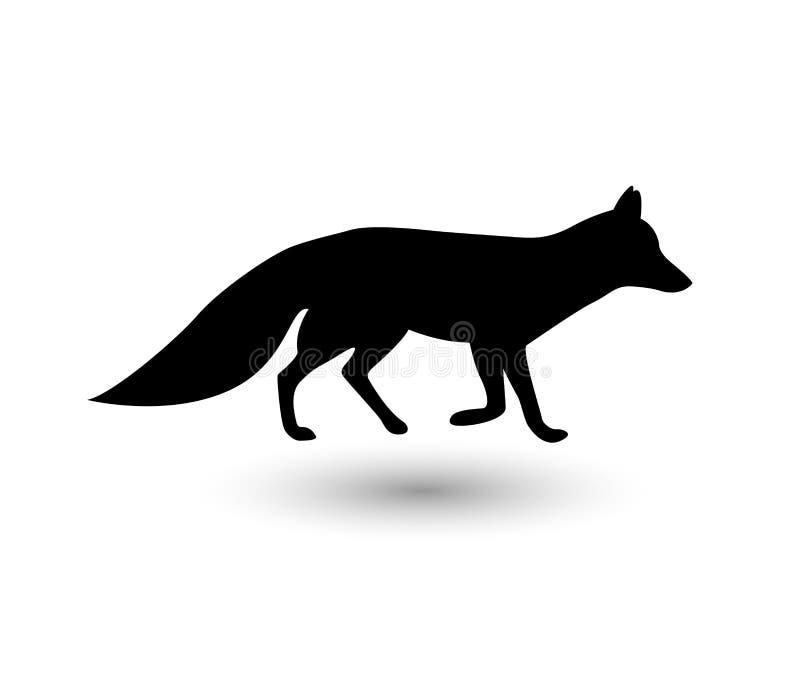 Силуэт лисы иллюстрация штока