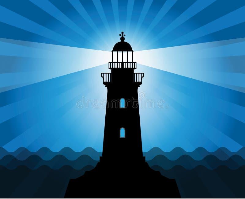 Download Силуэт маяка иллюстрация вектора. иллюстрации насчитывающей яркое - 33736358