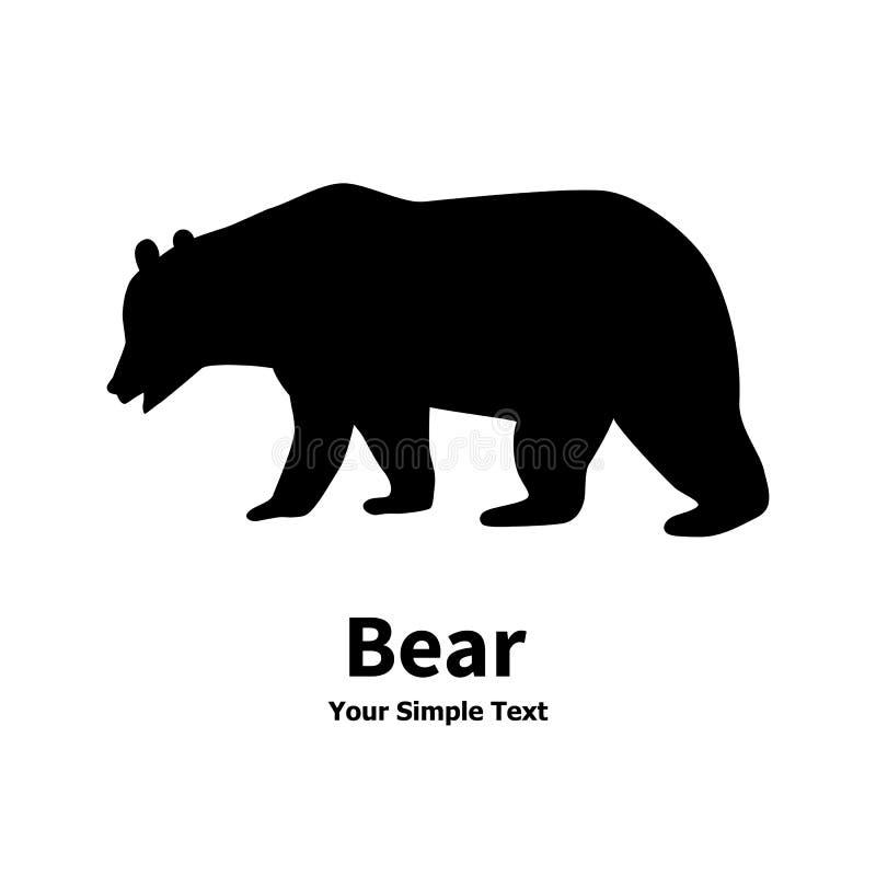 Силуэт медведя стоковые изображения rf