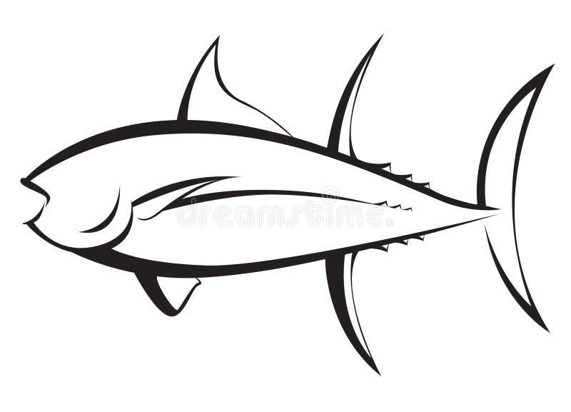 Силуэт мяса тунца стоковые фотографии rf