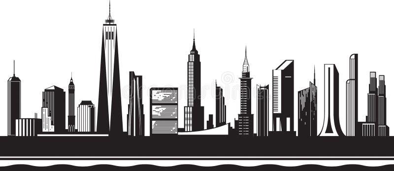 Силуэт Нью-Йорка к день бесплатная иллюстрация