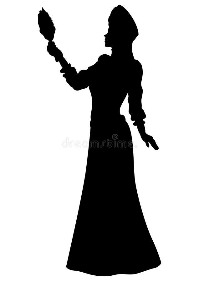 Силуэт принцессы фантазии легендарный бесплатная иллюстрация