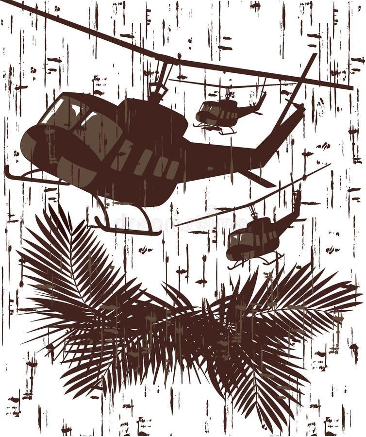 Силуэт солдата в действии иллюстрация вектора в стиле 3 grunge иллюстрация штока