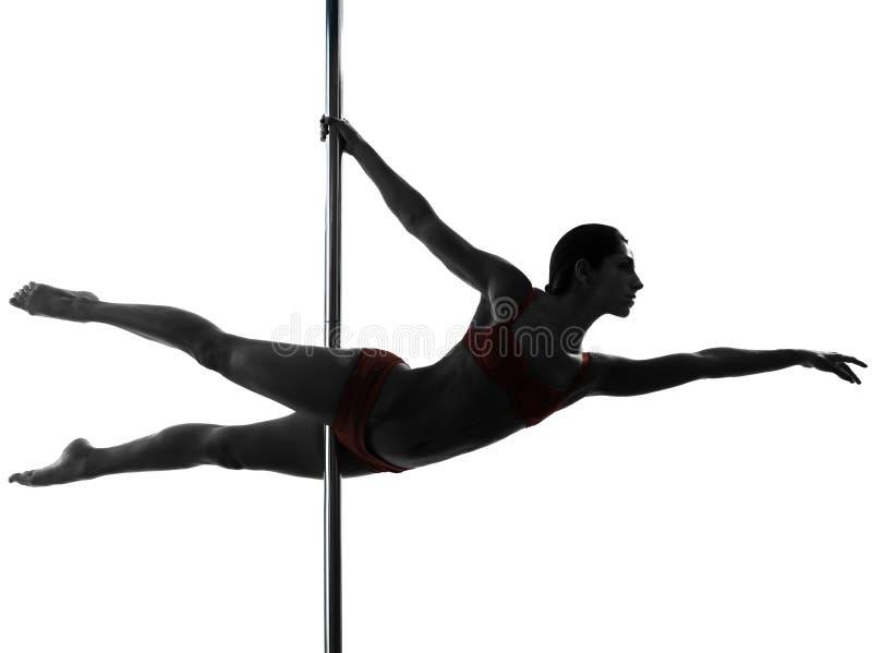 Силуэт танцора поляка женщины стоковые изображения