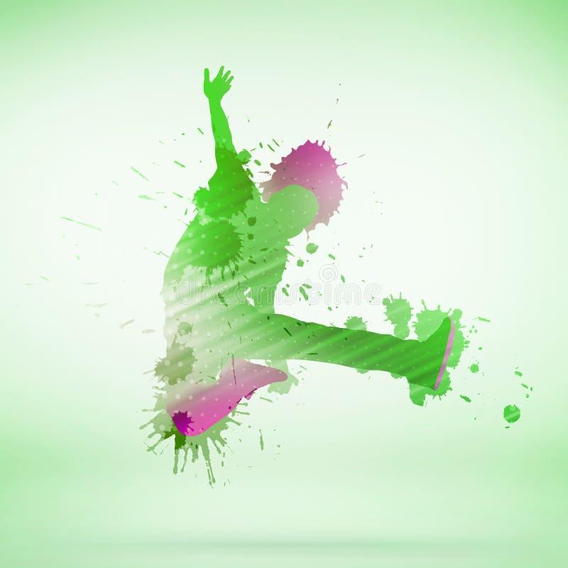 Силуэт танцора бесплатная иллюстрация
