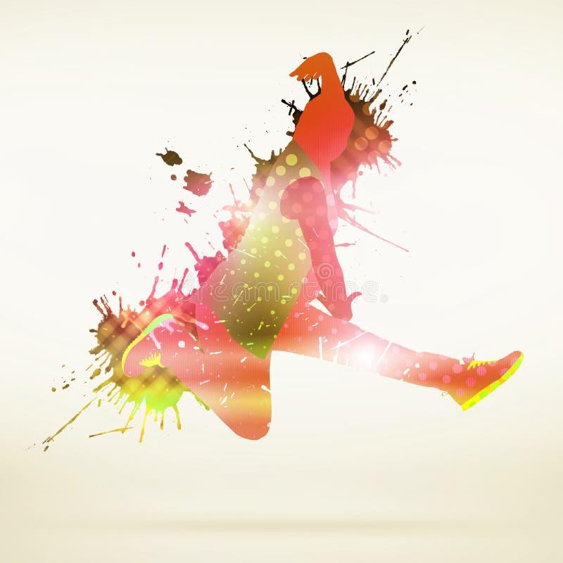Силуэт танцора стоковая фотография rf