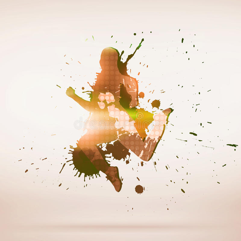 Силуэт танцора стоковые изображения