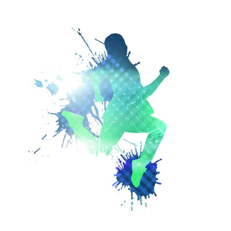 Силуэт танцора стоковое фото rf