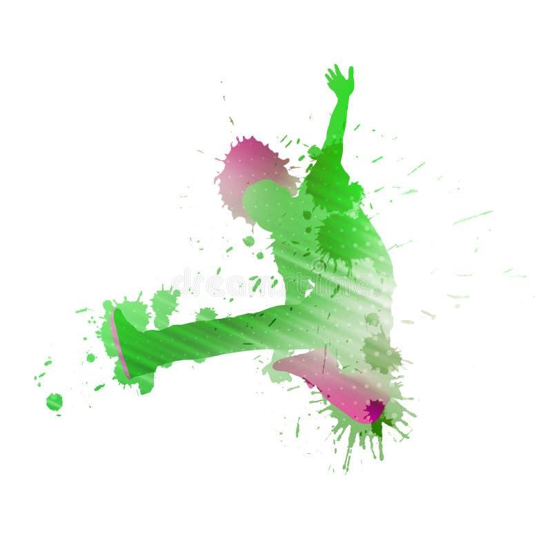Силуэт танцора иллюстрация штока