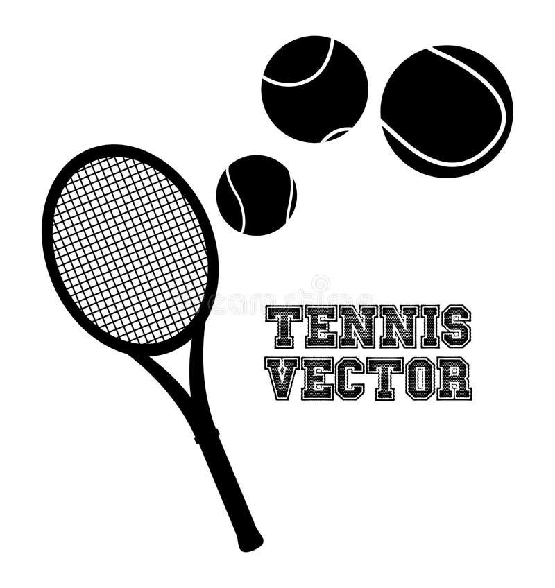 Силуэт тенниса иллюстрация вектора