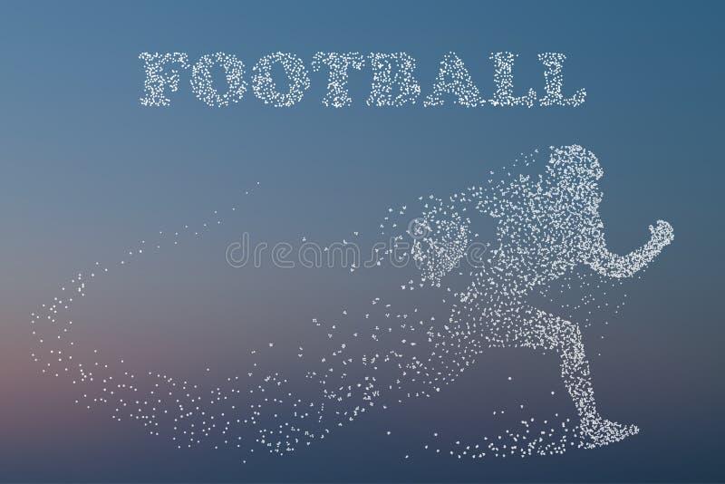 Силуэт футболиста рэгби американский футбол бесплатная иллюстрация