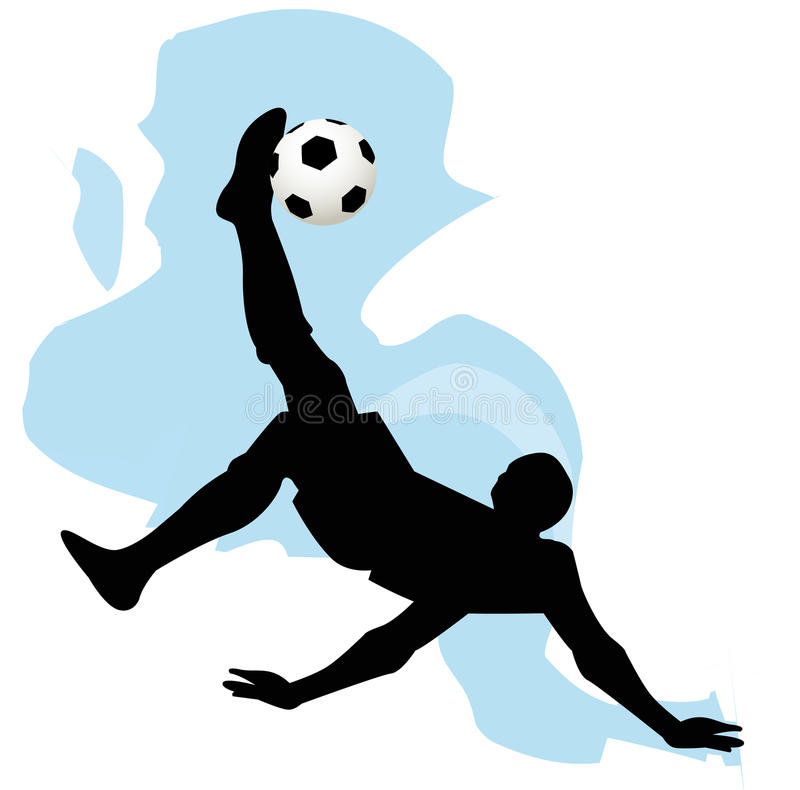 Download Силуэт футболиста иллюстрация вектора. иллюстрации насчитывающей силуэт - 41654371