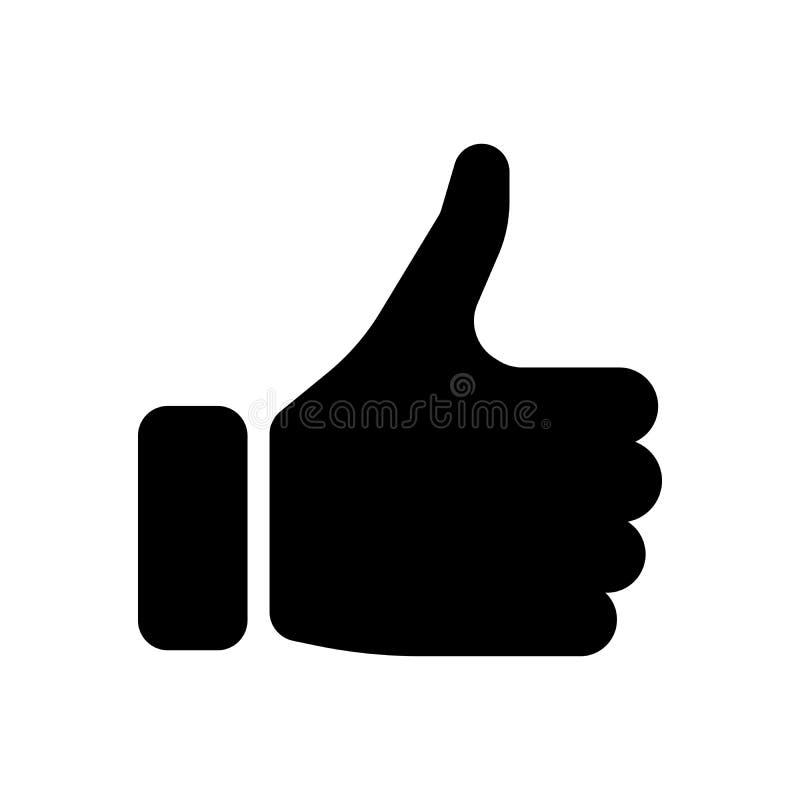 Силуэт шайки бандитов с большим пальцем руки вверх Жест как, соглашается, да, утверждение или поощрение Простой плоский вектор иллюстрация вектора