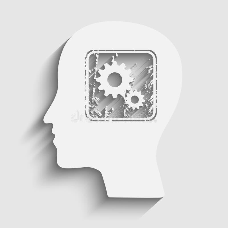 Силуэт людской головки иллюстрация вектора