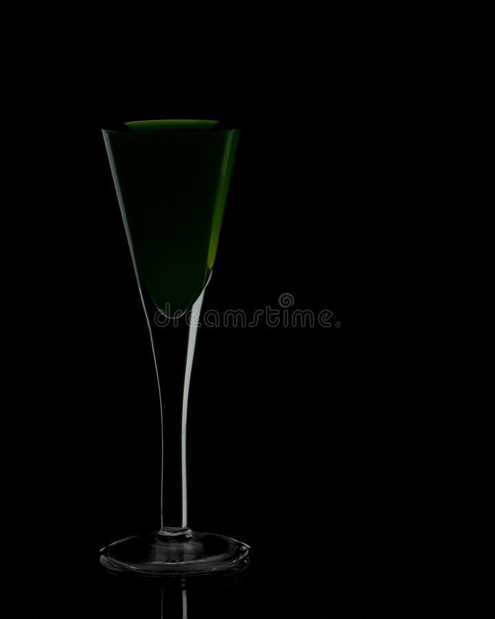 Силуэт glasse коктеиля стоковые фотографии rf