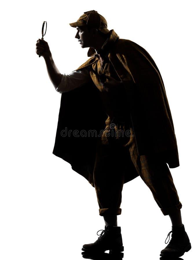 Силуэт holmes Sherlock стоковое изображение