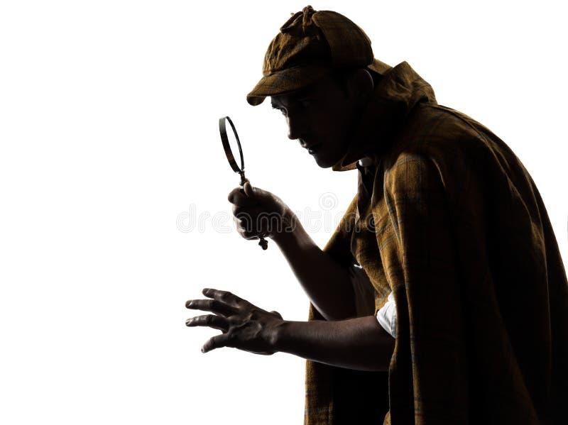 Силуэт holmes Sherlock стоковое фото rf