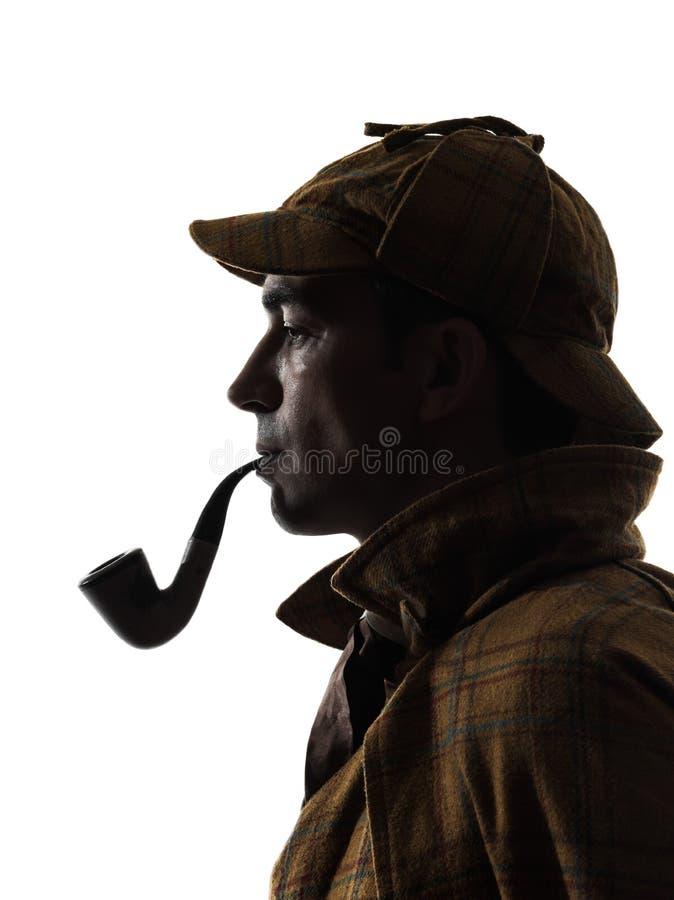 Силуэт holmes Sherlock стоковое фото